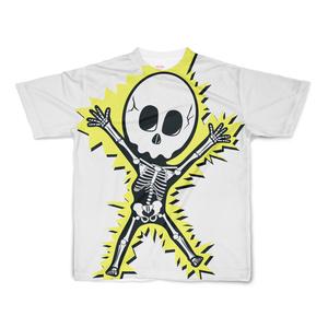 電撃スケルトン フルグラフィックTシャツ