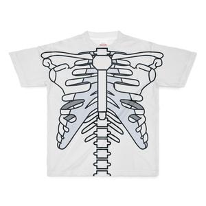 肋骨フルグラフィックTシャツ