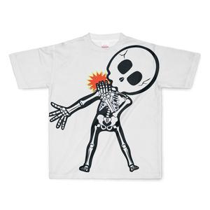肩痛スケルトン フルグラフィックTシャツ