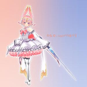 幻兎族のふんわりうさ姫さま -オリジナル3Dモデル-