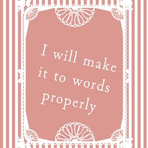 ようりこ「I will make it to words properly」