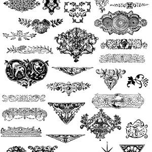 中世風素材「ワンポイント」30種類その3