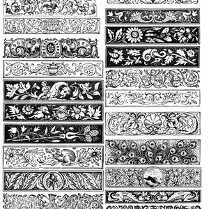 中世風素材「飾り長方形」30種類その3