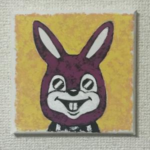 きぐるみうさぎ キャンバス画01