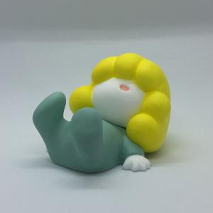 こもるちゃん(ヤタガラス付) レジンフィギュア