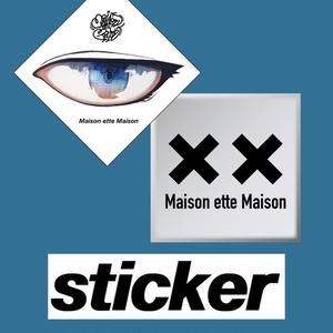 ステッカー(Project EYESロゴ&メゾネットメゾンロゴ)