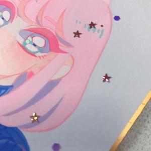 「Hiromi」色紙原画