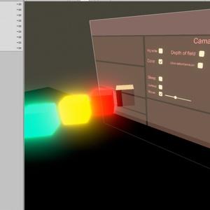 VRC World PostProcessing UI コントローラー スクロールバー付き Prefab