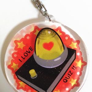 早押しボタンのアクリルキーホルダー(大ランプ)