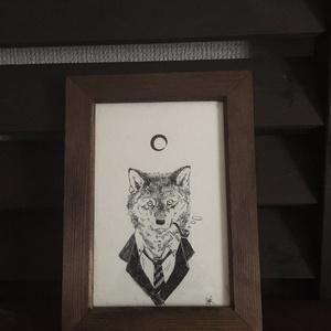 原画『狼とスーツと月』