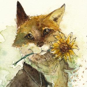 原画『狐と向日葵』