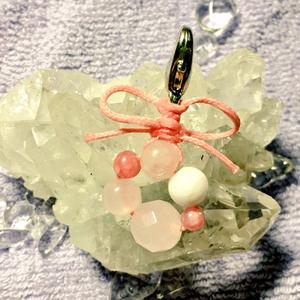 天然石チャーム(サクヤ姫カラー)
