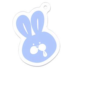 うさペロアクリルキーホルダー[ブルー]
