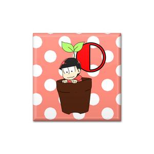 おそ松さん☆おそ松 鉢植え缶バッチ☆