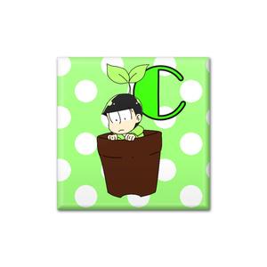 おそ松さん☆チョロ松 鉢植え缶バッチ☆