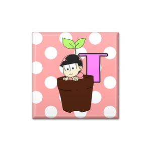 おそ松さん☆トド松 鉢植え缶バッチ☆