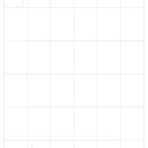 背表紙付き折本(縦型)テンプレート