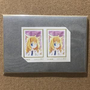 82円切手(ねこみみルネ)
