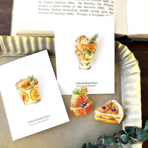 Orange Parfait brooch オレンジパフェブローチ 母の日