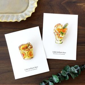 Orange Yogurt sweets brooch オレンジヨーグルト瓶スイーツブローチ