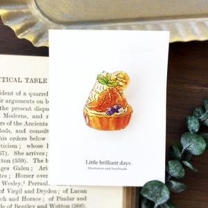 Orange Tart brooch オレンジタルトブローチ