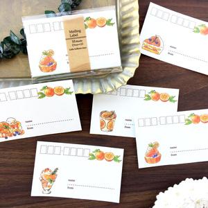 """Mailing Label """"Orange Sweets""""【宛名シール*タイプを選んで下さい】オレンジ 夏"""