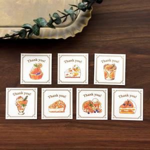 "Thank you seal ""Orange Sweets""【シール35枚入り】オレンジスイーツ"