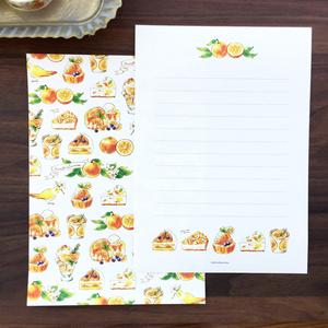 "Letterset ""Orange Sweets"" オレンジスイーツレターセット 春夏"