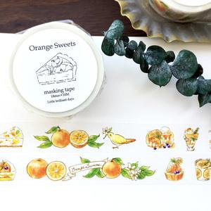 Orange Sweetsマスキングテープ オレンジスイーツ