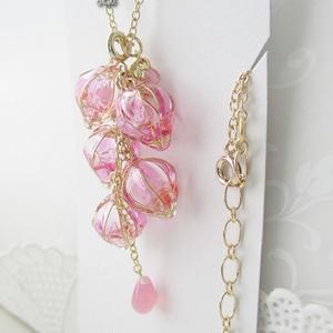 藤の花のネックレス 金 桃藤