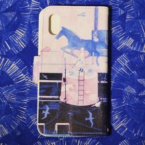 「青く揺れる走馬灯」iPhone手帳型ケース