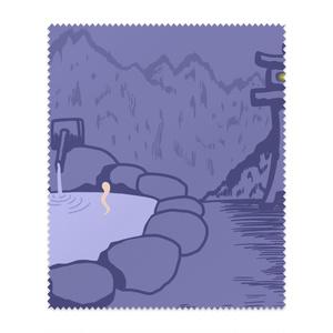 静かな温泉(月明かり無しバージョン)