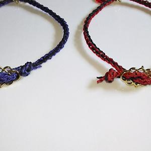 編み紐ブレスレット