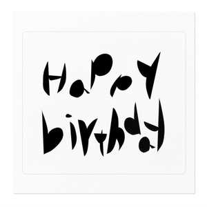 Happy Birthday*ステッカー