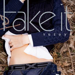 """Tシャツ (白・M) ーすず屋。""""Fake it""""写真展オリジナル・グッズ"""