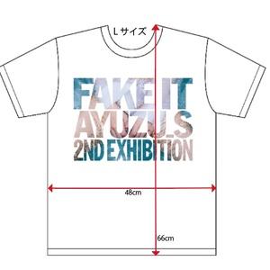 "Tシャツ (白・L) ーすず屋。""Fake it""写真展オリジナル・グッズ"