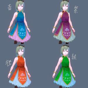 VRoid用衣装テクスチャ(チャイナワンピ)