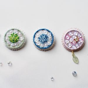 【一点物】紫陽花のブローチ
