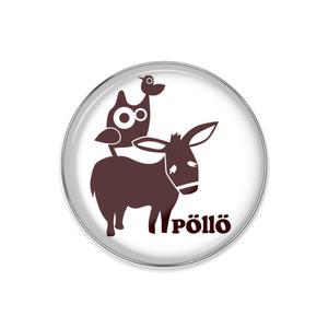 pöllö ロゴ ピンバッチ