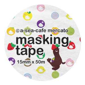 a-sea-cafe mercato マスキングテープ (15mm x 50m)