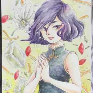 原画:チャイナ服の花茶シリーズ