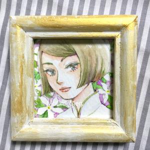 ミニ原画:ジャスミン3姉妹シリーズ