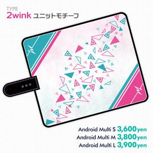 【あんスタ】2winkモチーフ手帳型スマホカバー【価格改定】
