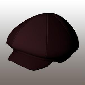【3Dモデル】茶色い帽子△968