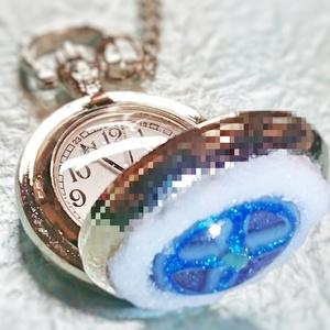 雪獅子の懐中時計