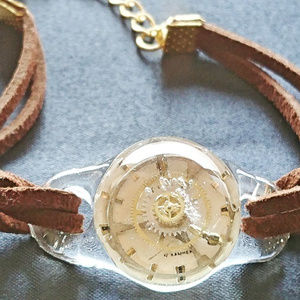 歯車時計のブレスレット