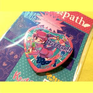 psy娘path / ハート缶バッジ
