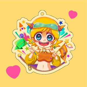 Hi Yellow Girl / アクリルキーホルダー