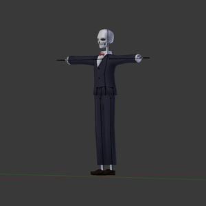 骸骨3Dモデル