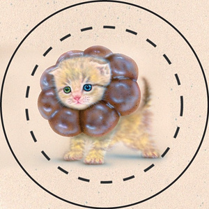 【雑貨】缶バッジ:ポンデニャイオン:ショコラ